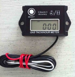 Digital Hour Meter Tachometer Adjustable Resetable Job Timer