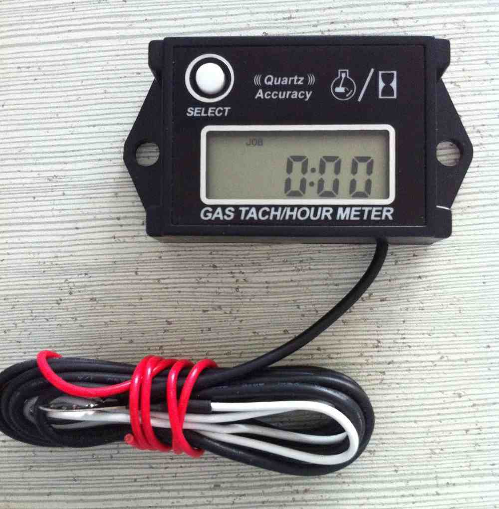 Digital Hour Meter : Digital hour meter tachometer adjustable resetable job